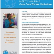 Profile of Mercy Marina, a case care worker in Zimbabwe