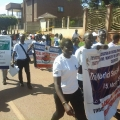 Social workers march through Kampala