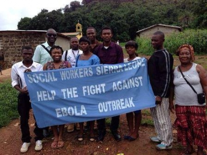 Social Workers in Sierra Leone help in the fight against Ebola
