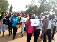 Attendees to CRISOWO Conference march in Kigali
