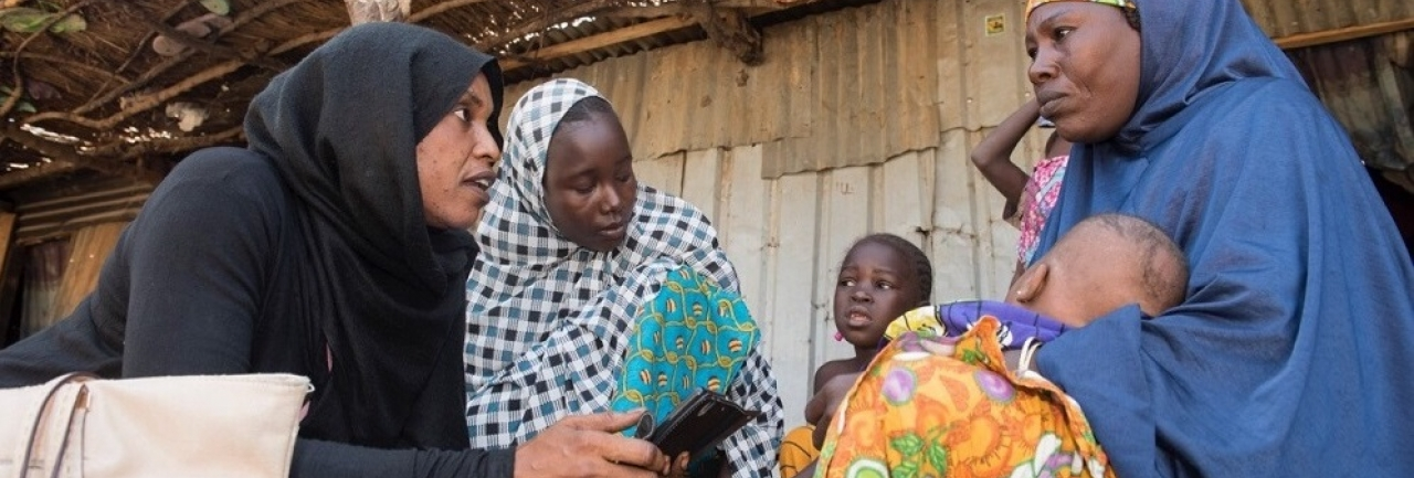 A social worker in Nigeria using mobile technology to advance health service provision