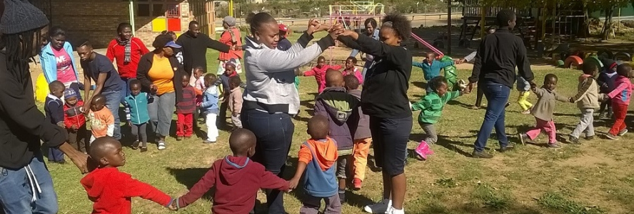 Child and youth care workers at a Safe Park in South Africa
