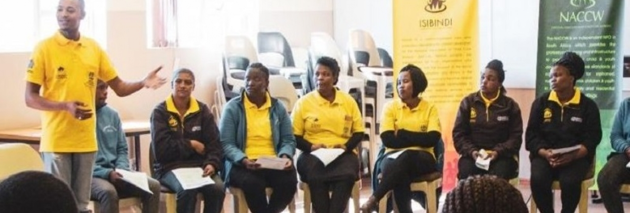 child and youth workers attend a training